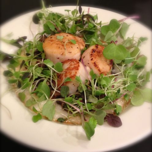 Made it: Scallops with something